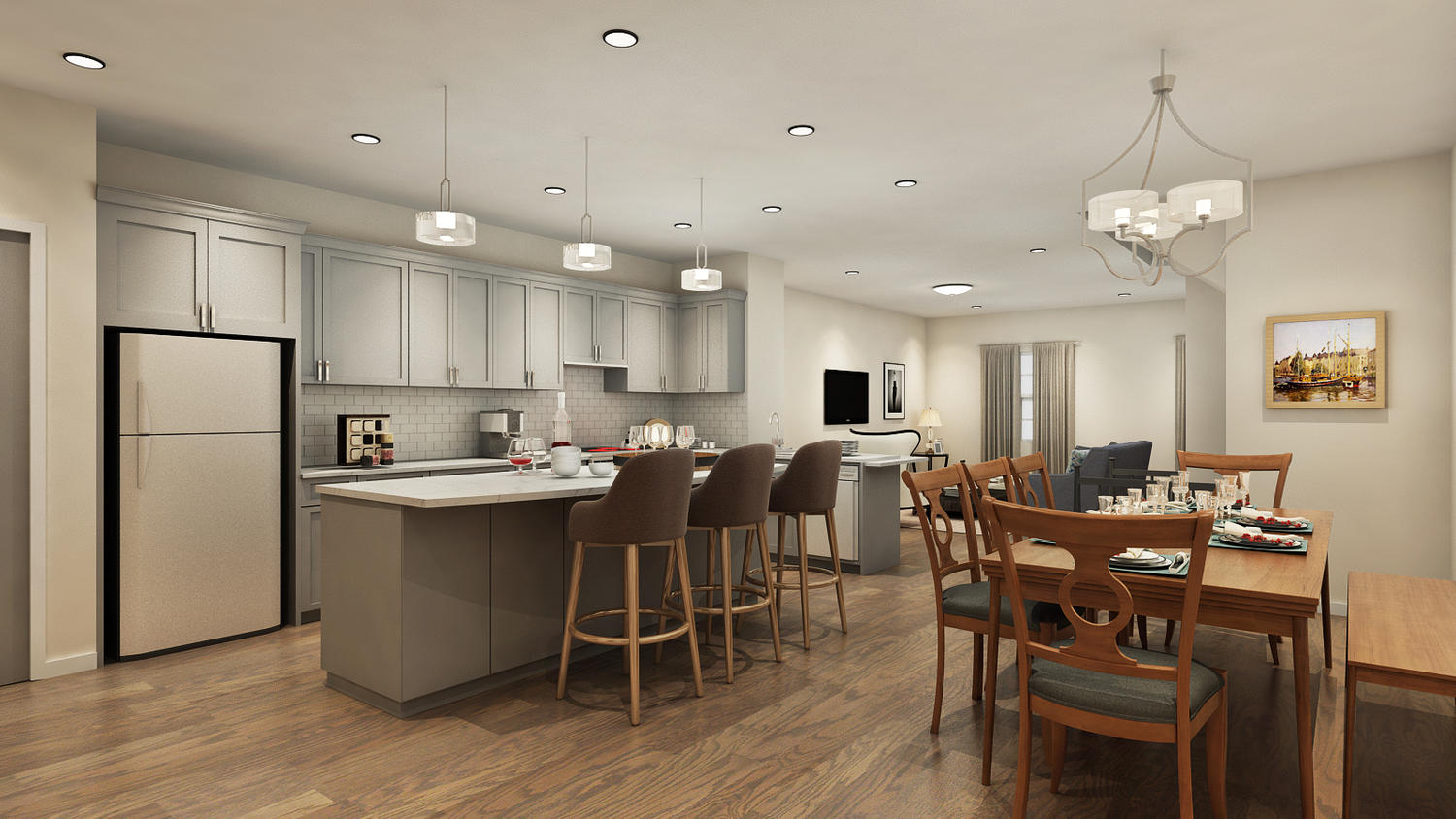 The Brownstones at New Visions Releases 3-D Renderings new townhomes for sale in brick nj