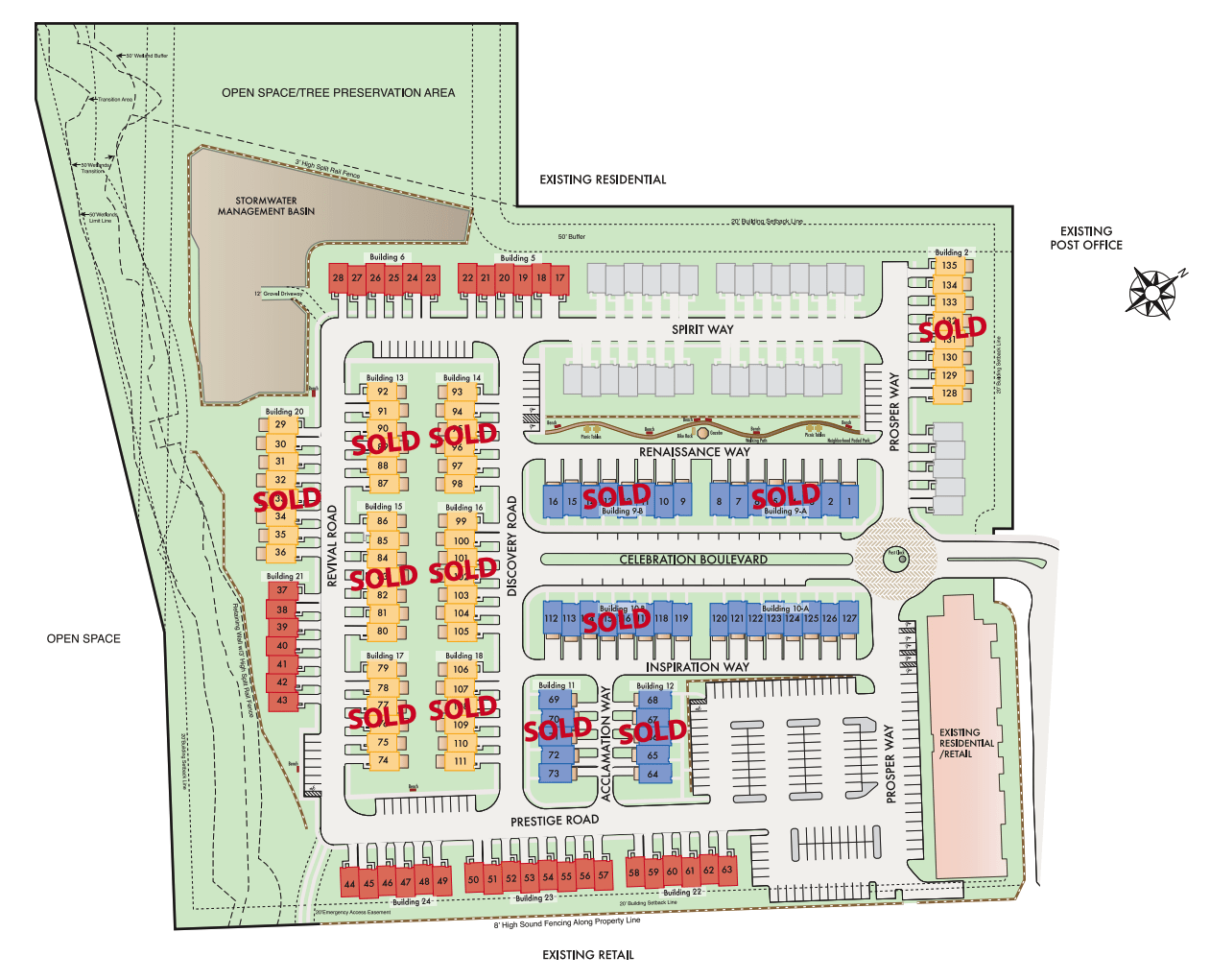 Site Plan with Sold